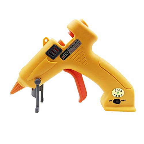 NEX&CO Cordless Rechargeable Hot Glue Gun, Portable Mini Glue Gun Kit with Built-in Lithium Battery and Hot Glue Sticks for Kids, Perfect for Arts and Crafts, Small Art Projects, DIY (Yellow-12W) -
