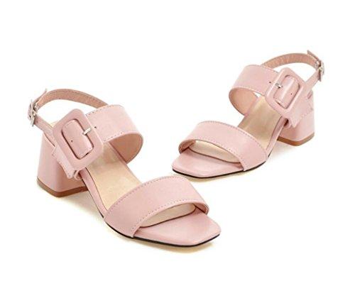 Sandalias Pink 34 Elegancia Xie Mujer Verano Para diario 41 Cinturón antideslizante hebilla Fiesta 36 Blue 34 5cm Confort sandalias De Compras dnqqwCUHr