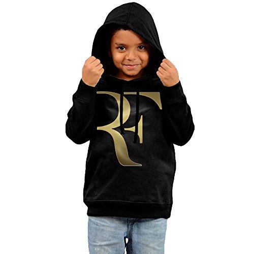 (FGFD Toddler Roger Tennis Federer Unisex Hoodies Black Size 5-6 Toddler)