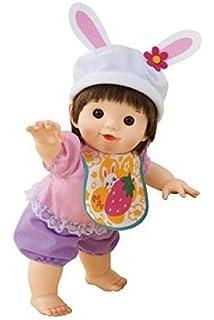ぽぽちゃん お人形 やわらかお肌のよちよちぽぽちゃん白うさぎファッション