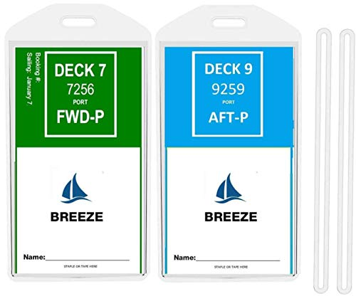 (8 Pack Wide Luggage Tag for PRINCESS, CARNIVAL, HOLLAND AMERICA, COSTA)