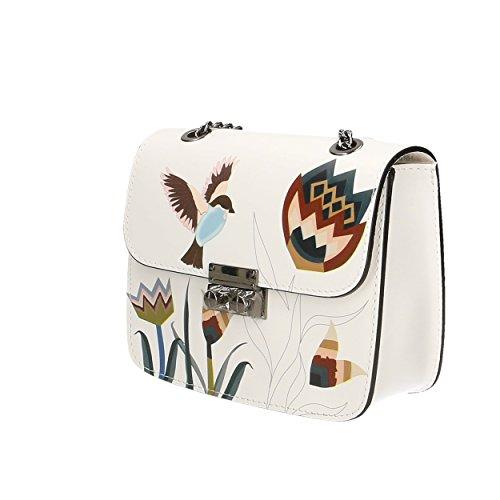 Genuino Made Aves En Bolsa De In Hombro Cuero Aren 18x14x7 2 Mujer Cm Italy Patrón 0xf1SUwqnY