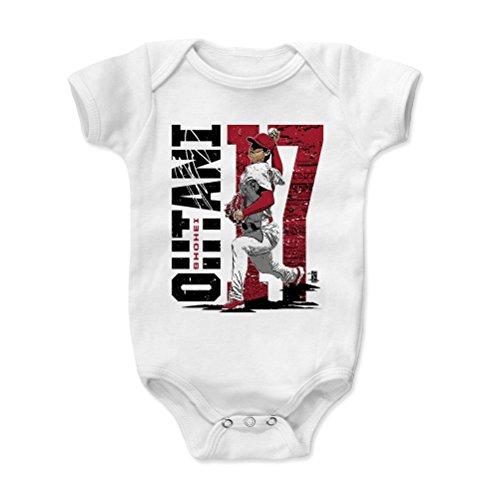 500 LEVEL Shohei Ohtani Baby Clothes, Onesie, Creeper, Bodysuit 3-6 Months White - Los Angeles Baseball Baby Clothes - Shohei Ohtani Stadium R