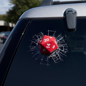 (Three-D Amusing Motorcar Gummed Label - Car Dice Sticker Rear Window Wiper Reflective Decal - Comical Auto Ill Queerly Risible Suspiciou Comically Cable Fishy Comic Gondola Odd - 1PCs)