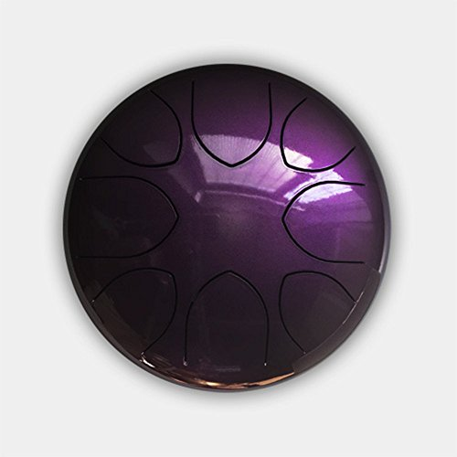 10'' Steel Tongue Drum (Bag included)-C Major Natural Scale Purple by Crystal Energy Bowls