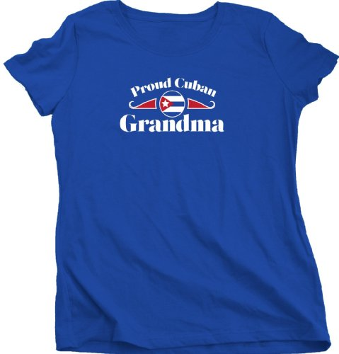 Proud Cuban Grandma | Cuba Pride Ladies Cut T-shirt Cuba Grandparent Shirt