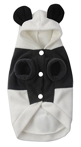Zeroyoyo Cute Pet Dog Puppy Cat Panda Costume Clothes Hoodie Coat , Black & White
