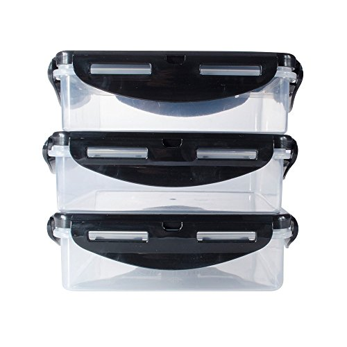 Pack Fitness Containers Square Clear