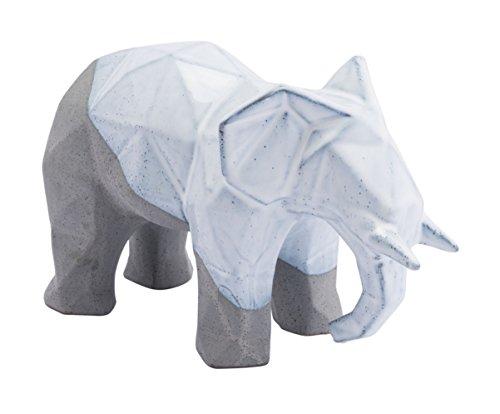 Zuo A11456 Geo Elephant Figurines, White & Gray ()
