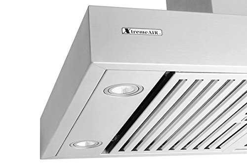 XtremeAir Pro-X Series PX06-I36, 36'' Wide, Easy Clean swing-able baffle Filters, Stainless Steel, Island Mount Range Hood