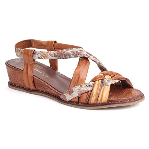 Riva Belmonte Damen Lederschuhe Schuhe Sandalen Riemenschuhe Sommerschuhe Rot