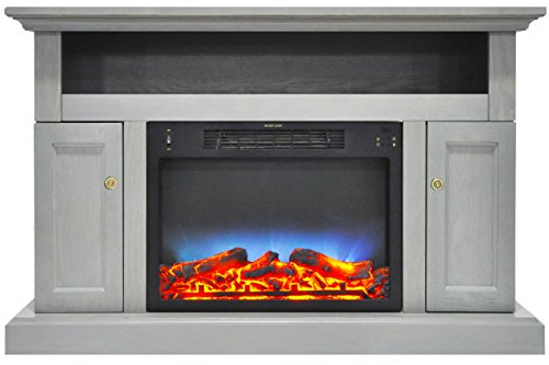 Cheap Cambridge CAM5021-2GRYLED Sorrento Electric Fireplace with Multi-Color LED Insert and 47 In. Entertainment Stand in Gray Black Friday & Cyber Monday 2019