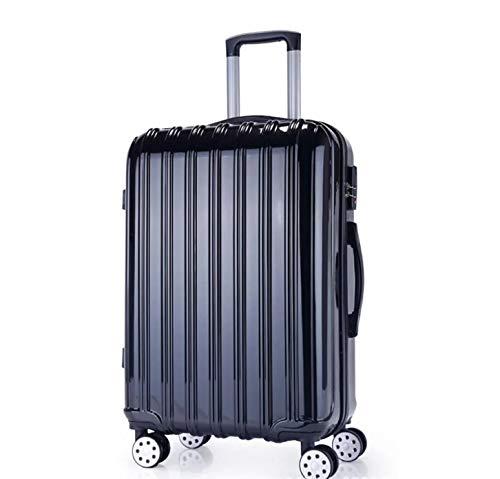 KTH Absトロリーケースユニバーサルホイール学生スーツケース男性パスワードボックス女性スーツケース荷物 24 ブラック B07RBVS41X