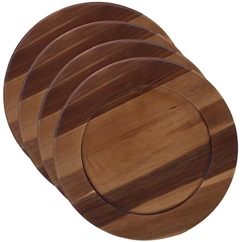 - Certified International 22525 Acacia Wood Charger Plate, 13