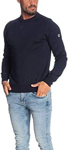 Emporio Armani EA7 Maglione Girocollo Blu con Logo (XXXL): Amazon.it:  Abbigliamento