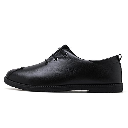 Shoes Solid Leather Cricket up Black Go Shoes Loafer Lace Men's Shopping PU Color Flat Easy Heel 7qTSw0vv