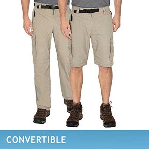 Bc Clothing Mens Convertible Cargo Hiking Pants Shorts  Xx Large X 32L  Khaki