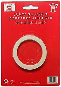 Distribuidora Ersa Junta para Cafetera, Silicona, Blanco, 16,5 x 11,5 x 1 cm, 2 Unidades: Amazon.es: Hogar