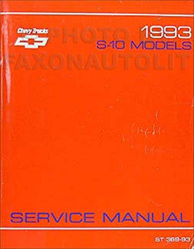1993 Chevrolet S-10 Pickup and Blazer Repair Shop Manual Original