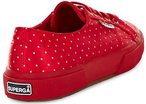 Red dots Dotssatinw 2750 Superga Da Scarpe Donna Basse White Ginnastica 7ZqHvxpU