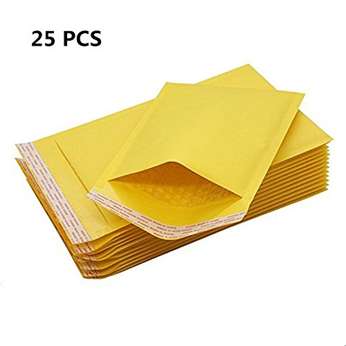 (SY-Athena 25 Pieces - 8.5x12 Premium Self Seal Kraft Bubble Mailers Padded Shipping Envelopes Tear-proof, Water-resistant and Postage-saving Lightweight 8.5