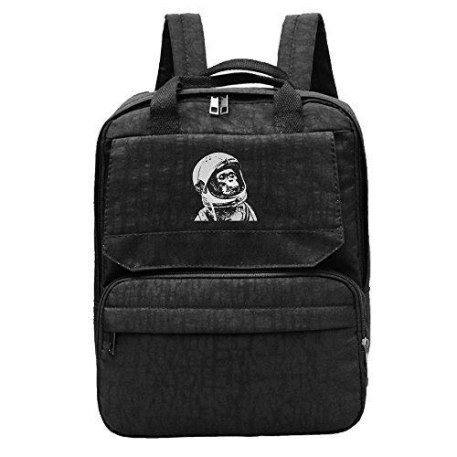 Space Monkey White Backpack For Women,Girls Recreation (Nasa Space Helmet For Sale)