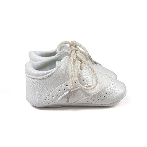 Estamico Baby Boys Shoes Prewalker PU Sneakers White US 4 - Image 5