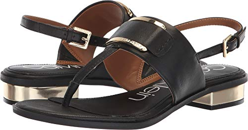 Calvin Klein Women's Freida Sandal, Black, 9.5 Medium US by Calvin Klein