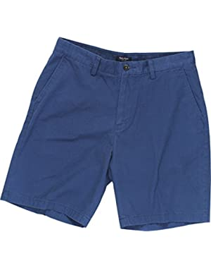 Mens The Deck Short Classic Fit Twill Shorts Blue 36