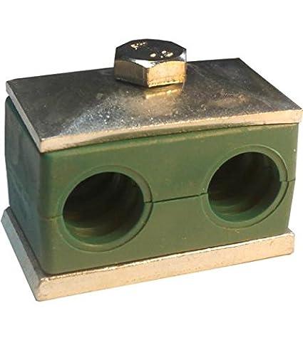 Hydraulikrohrschelle Rohrschelle Schlauchschelle mit Anschwei/ßplatte 25 mm