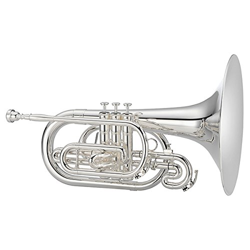Jupiter JMP1100M Quantum Series F Marching Mellophone Silver by Jupiter