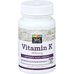 365 Everyday Value, Vitamin K 100mcg, 100 ct