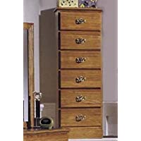 Carolina Furniture Works 234600 Chest with 6 Drawer Lingerie, Golden Oak