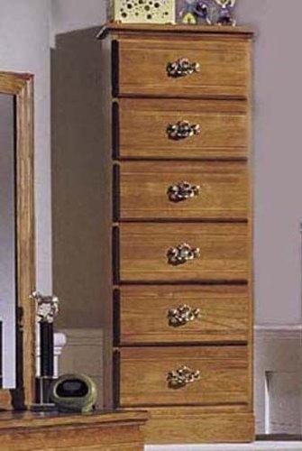 Carolina Furniture Works 234600 Chest With 6 Drawer Lingerie, Golden Oak