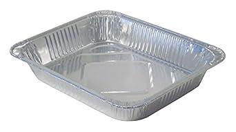 2-3//16 Pan Depth Pack of 100 Pack of 100 Half-Size 2-3//16 Pan Depth Durable Packaging Aluminum Steam Table Pan 4255-100 Medium
