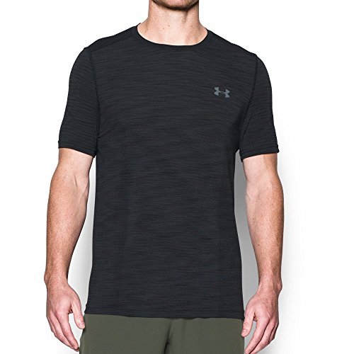 Under Armour Men's Threadborne Seamless T-Shirt, Black /Graphite, X-Large