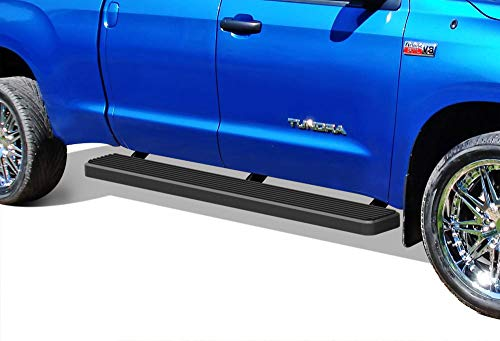 APS iBoard (Black Powder Coated 6 inches) Running Boards | Nerf Bars | Side Steps | Step Rails for 2007-2019 Toyota Tundra Double Cab Pickup 4-Door ()