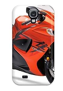 Best Faddish Quality Suzuki Hayabusa Orange Bike Case Cover For Galaxy S4 57FV9TEDRGM89TJO