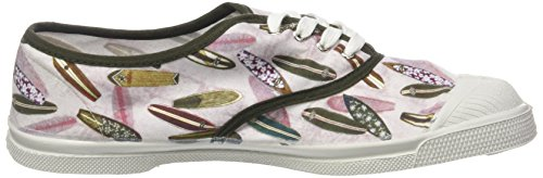 Bensimon Women's Tennis Lacets Surf Prints Trainers Multicolor (Imprime Planchettes) pzbYI3q8