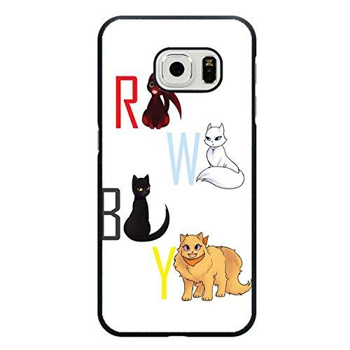 Samsung Galaxy S6Edge Handy Fall RWBY Symbol Animal weiß Cute Hülle