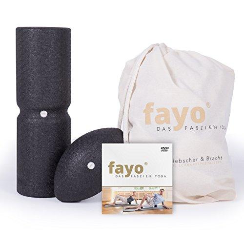FAYO Set Faszienrolle und Kugelrolle, ideal für Selbstmassage und Faszien-Yoga, 2er Set