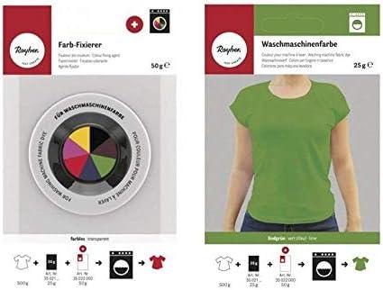 Rayher Fijador + Tinte Textil para Lavadora - Verde: Amazon ...