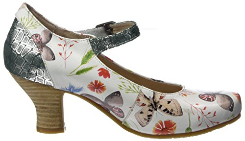 Laura Vita Ladies Candice 028 Mary Jane Scarpe Basse Bianco (bianco)