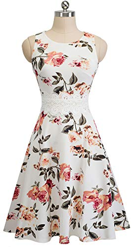 HOMEYEE Women's Sleeveless Cocktail A-Line Embroidery Party Summer Wedding Guest Dress A079 2