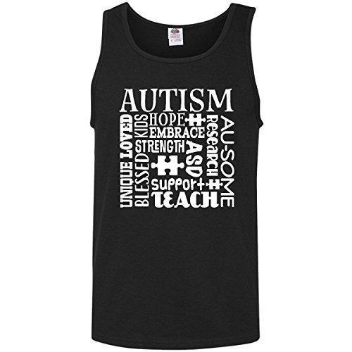 inktastic - Autism Awareness Month Support Men's Tank Top Small Black 2f769 (Awareness Tank)