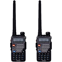 BaoFeng UV-5RB 5W 136~174MHz/400~520MHz Dual-band Dual-display Wireless Multifunction Walkie Talkie (Pack of 2)