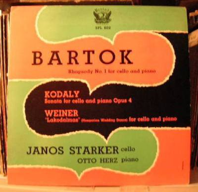 Bartok - Rhapsody No. 1 for Cello and Piano - Kodaly Sonata for Cello and Piano Opus 4 - Weiner