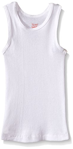 Hanes Boys' Toddler 5-Pack White Tank, 4T (Hanes Girls Underwear 4t)