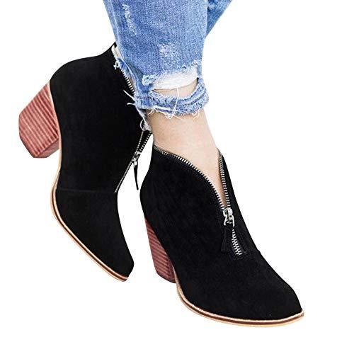 Faionny Womens Shoes Suede Ankle Boots Solid Leopard Zipper Boots Short Shoe for Women Sneakers Black