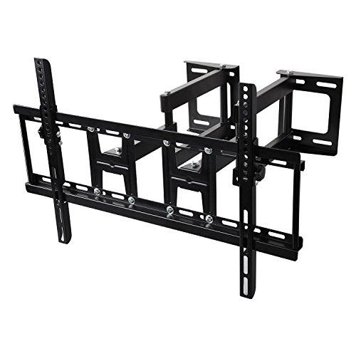 (6-Arm-Design Tilt Swivel Full Motion Articulating TV Corner Wall Mount Bracket for 32-70 Inch Flat Curved Plasma LED LCD OLED QLED TVs Max Vesa 600x400mm 99Lbs)
